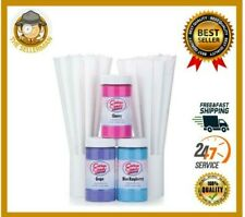 Cotton Candy Floss 50 Cones Flossine Sugar Flavoring Machine Maker Supplies Kit