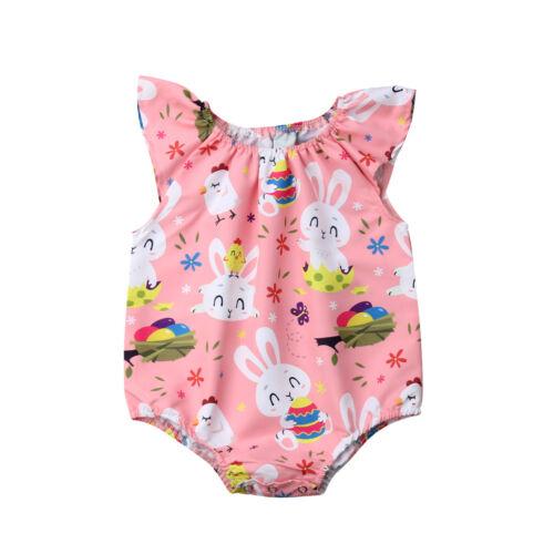 3-18 M bébé filles Pâques Ange Body FLY Manches Bunny Clothes Outfit
