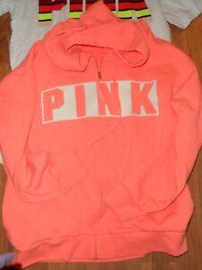 zip figura con Secret e Felpa con Victoria's a cappuccio ~ intera Pink cappuccio Vs fvzcU1q7W