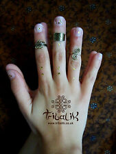 Brass Midi Fashion Tribal Ring - Above Knuckle Band- Engraved Urban Ring (23)