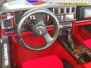 chevrolet chevy corvette c4 c 4 interior wood dash trim kit set 1984 84 1985 85 ebay