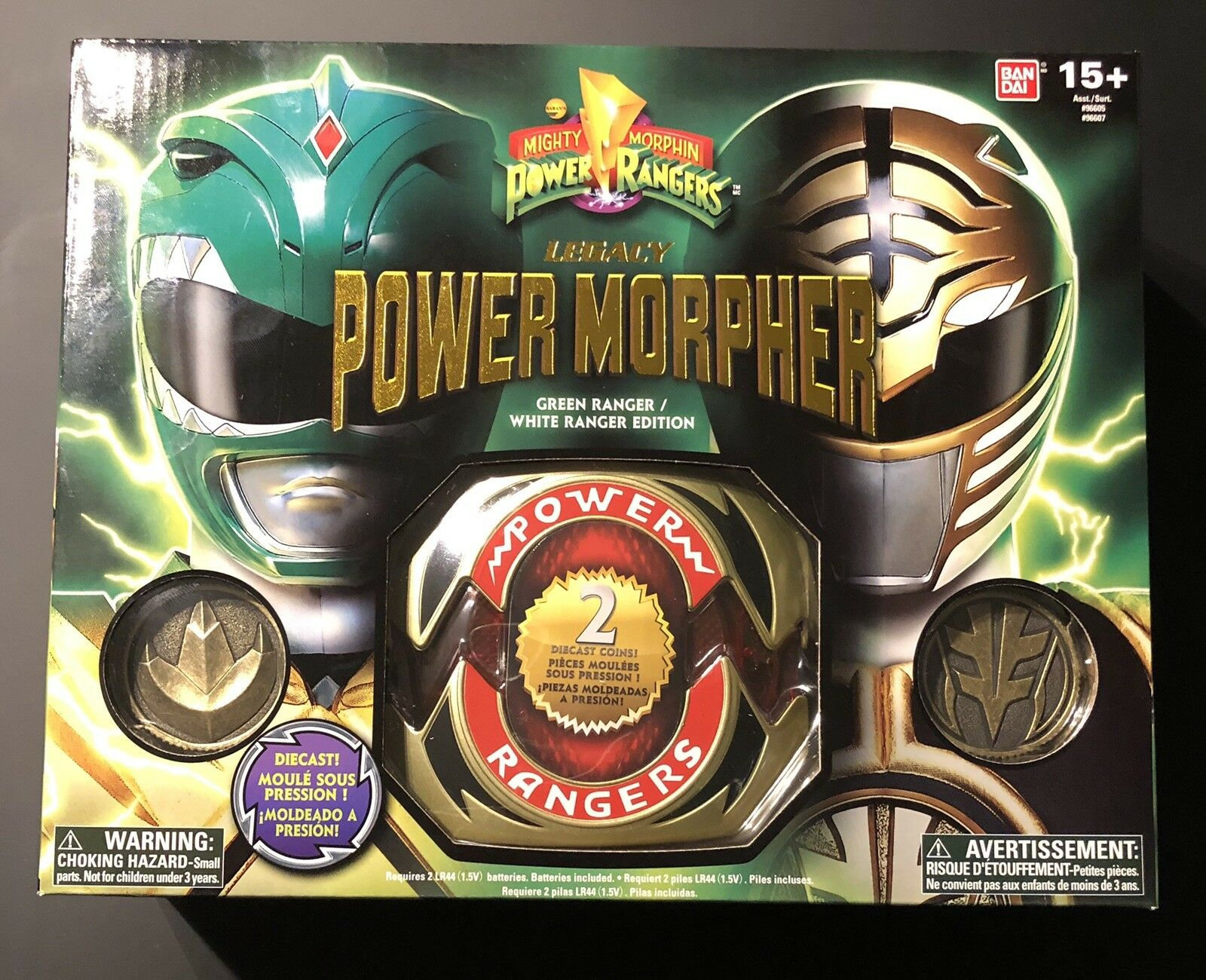 Legacy Mighty Morphing Power Ranger Grün Ranger Weiß Ranger Morpher Diecast