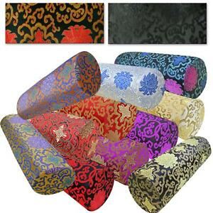 Bolster Cover*Chinese Rayon Brocade Neck Roll Long Tube Yoga Pillow Case*BL15