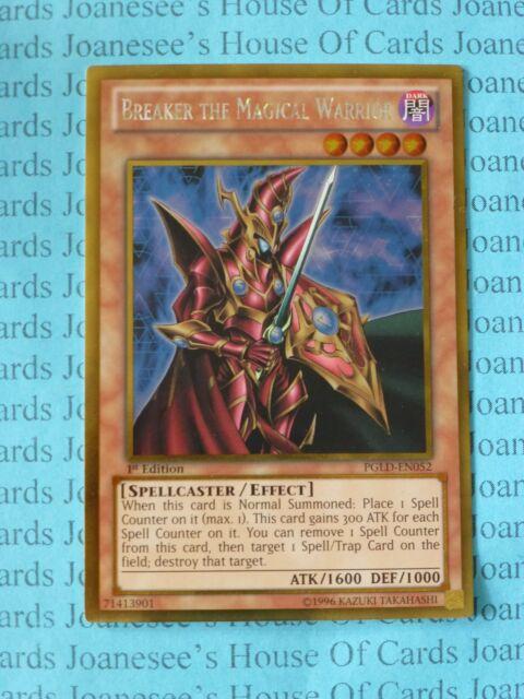 Breaker the Magical Warrior PGLD-EN052 Gold Rare Yu-Gi-Oh Card 1st Edition New
