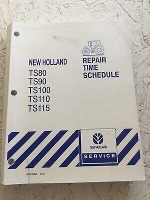 Equipment Manuals & Books NEW HOLLAND TS80 TS90 TS100 TS110 ...