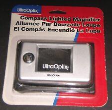 UltraOptix Quality 2X Pop-Light Clear Compact Magnifier w// Case /& Batteries NEW