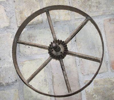 Sonstige Eisen Rad Zahnrad Wagenrad Speichenrad Sackkarre Karrenrad Schwer Speichen 36 Cm Bauer