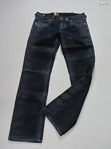 Levi-039-s-RED-Jeans-Hose-27-32-NEU-Denim-straight-034-vinyl-shine-034-W27-L32