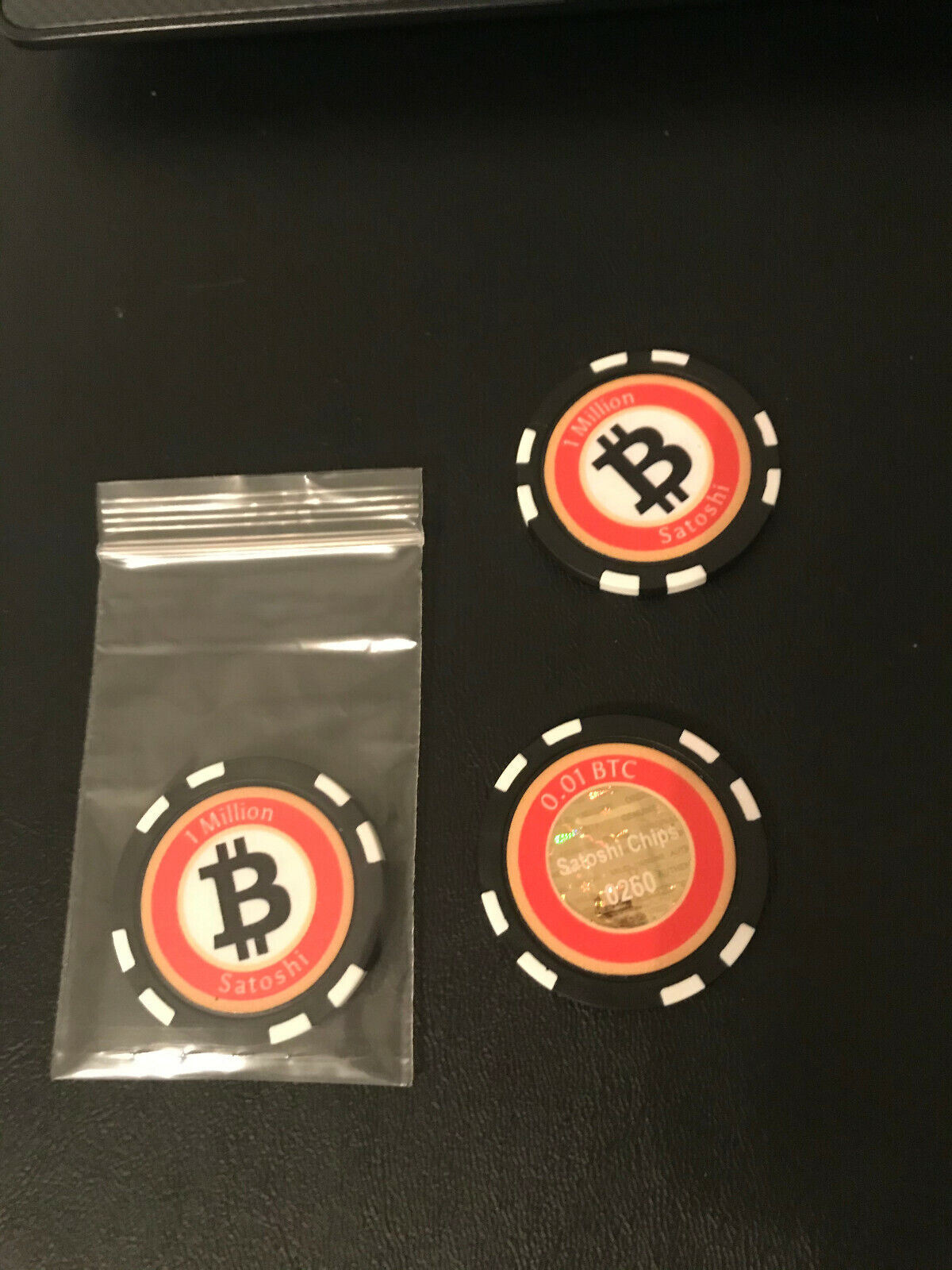 Bitcoin Poker Chip Wallet-Limited Edition 0.01 BTC Denominated 1