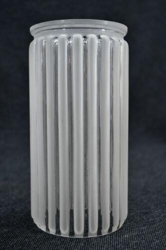 20er J. Lampenschirm Glasschirm Ersatzschirm Art Deco Glaskolben weiß milchig