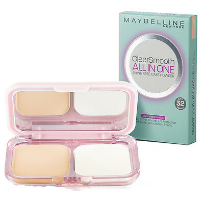 MAYBELLINE] Clear and Smooth All in One Shine Free Cake Face ...