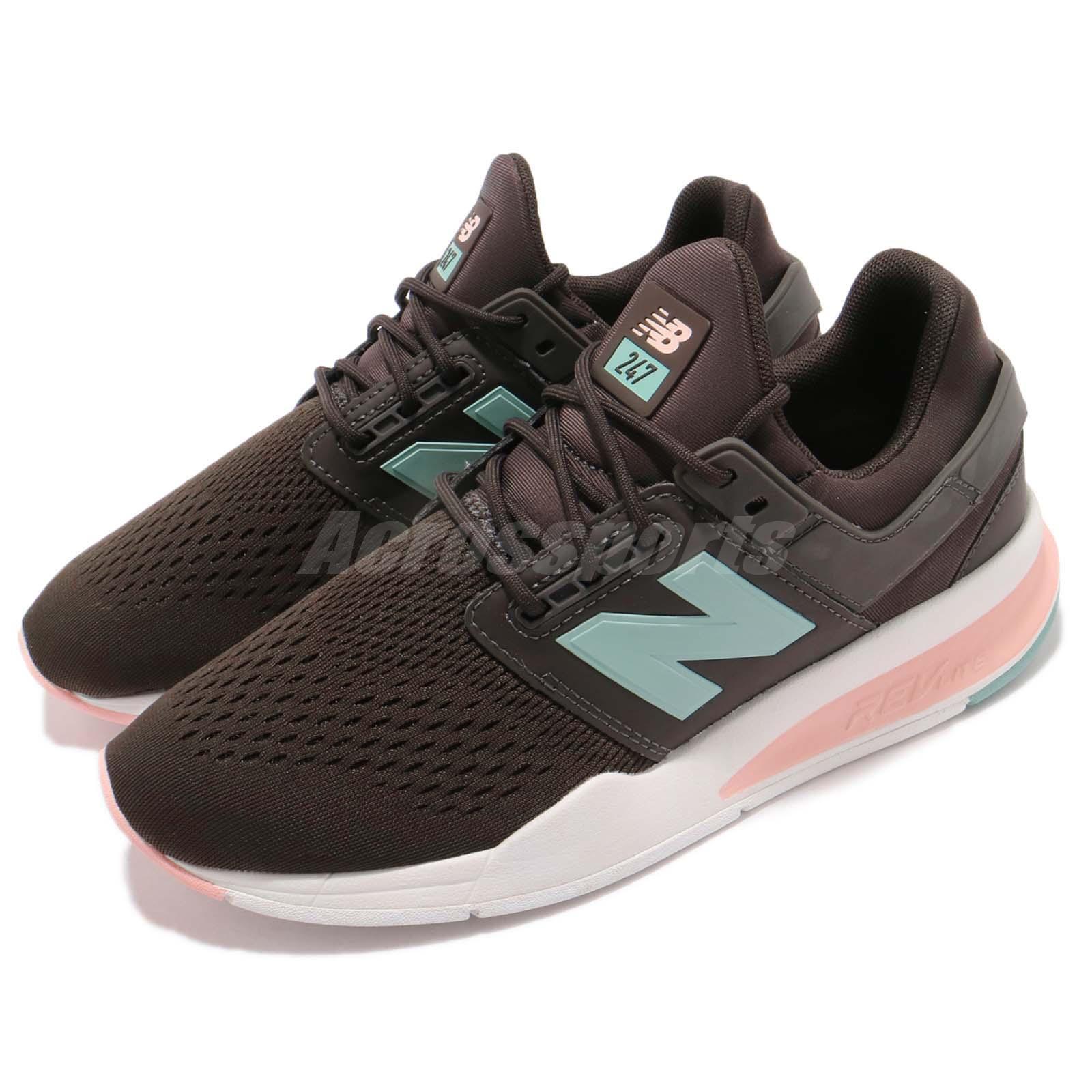 New Balance WS247FD B 247 Brown blueee Pink Women Lifestyle Running shoes WS247FDB