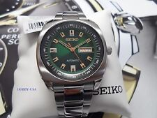SEIKO RECRAFT SNKM97 GREEN DIAL Silver  Stain. Steel SEIKO AUTOMATICS NKM97-NEW