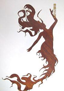 mermaid stencil template reusable 10 mil mylar ebay