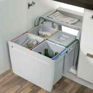 City Pull Out Kitchen Waste Bin 4x12L Compartments For Cabinet Width 600mm - <span itemprop=availableAtOrFrom>Manchester, United Kingdom</span> - Returns accepted Most purchases from business sellers are protected by the Consumer Contract Regulations 2013 which give you the right to cancel the purchase within 14 days after the d - Manchester, United Kingdom