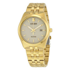 Citizen Corso Eco-Drive Champagne Dial Gold-tone Stainless Steel Mens Watch
