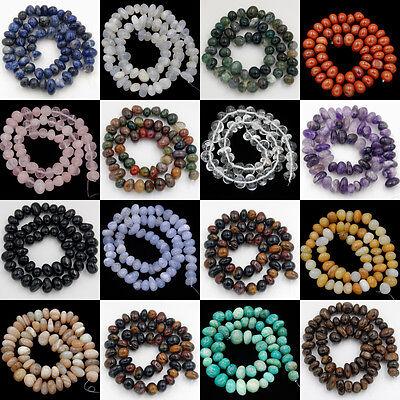 "Natural Gemstones 6x9-8x12mm Freeform Nugget Loose Beads Lot Diy Jewelry 7.5"""