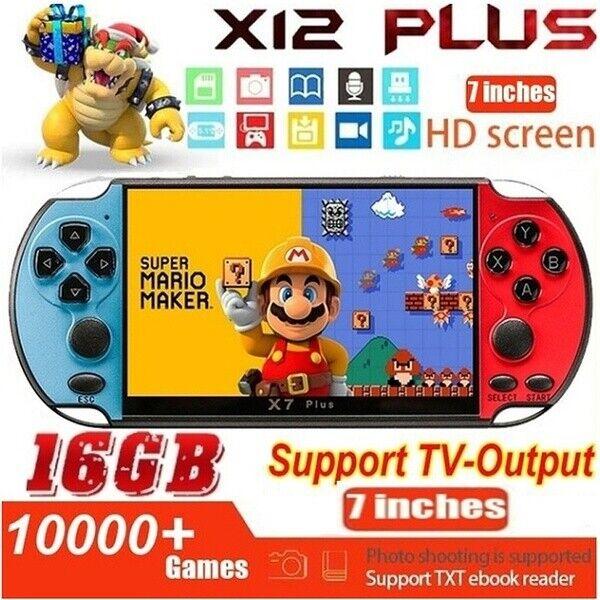 "X12 Plus 7"" 16GB Retro PSP Game Consoles Handheld Portable Games Console USA"