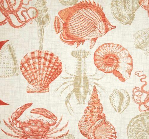 Coral Sea Life Window Valance  52  x 16