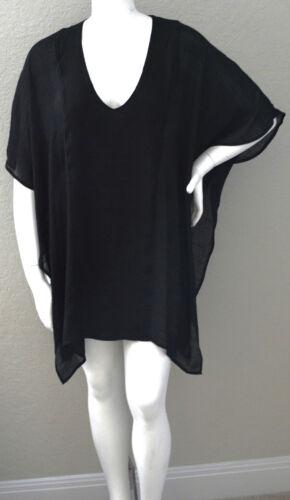 Black New! Plus XL//1XL /& 1XL//2XL Umgee USA V-Neck Caftan Tunic Cover Up
