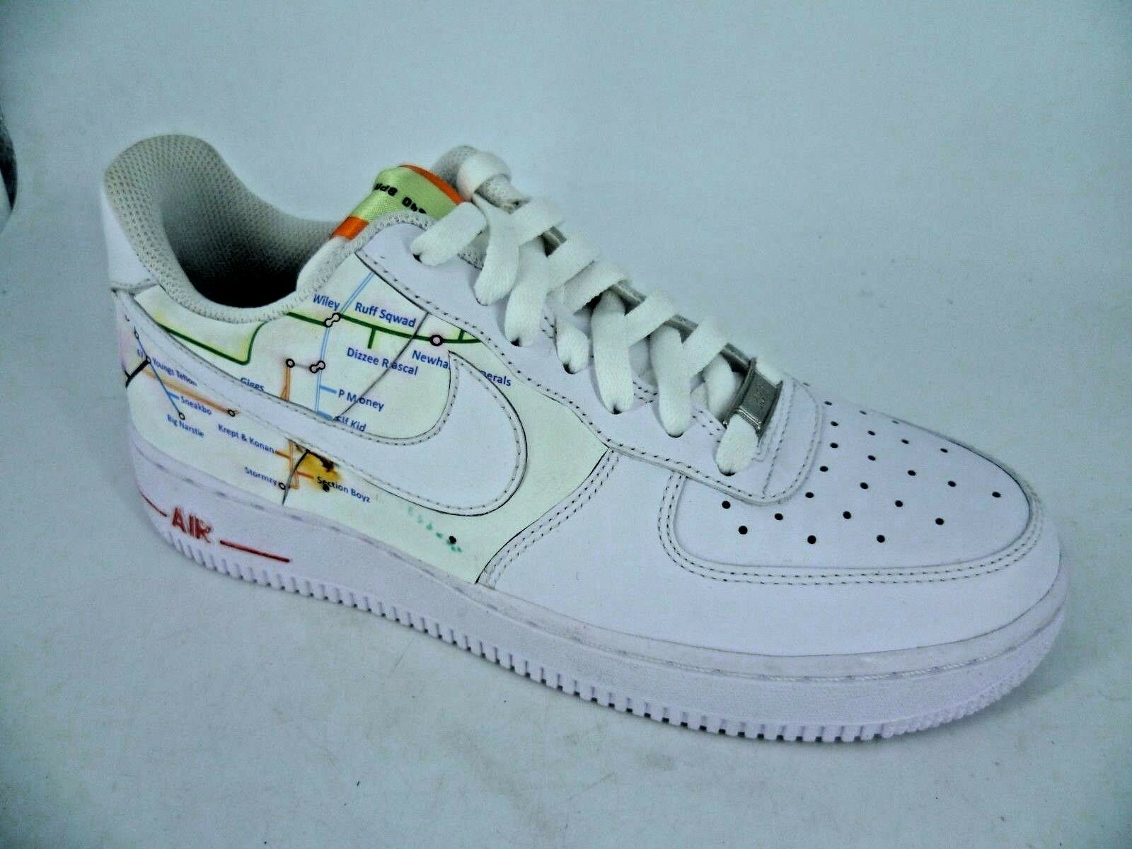 online store 43749 b652d Moyenne Feet personnalisé Baskets Nike Air Force 1 Blanc Baskets  personnalisé LN180 QQ 05 8a94a4
