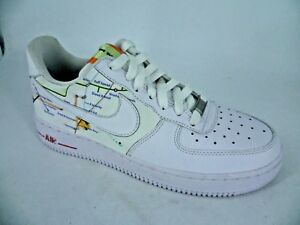 izquierda Censo nacional Mezquita  Mean Feet Customised Nike Air Force 1 White Trainers UK 6 EU 40 LN180 QQ 05  | eBay