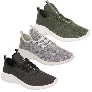 Mens-Trainers-Crosshatch-Running-Speed-Lace-Up-Knit-Mesh-Sports-Gym-Shoes-Casual