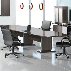 MODERN CONFERENCE ROOM TABLE AND CHAIRS SET Boardroom With - Conference room table and chairs set