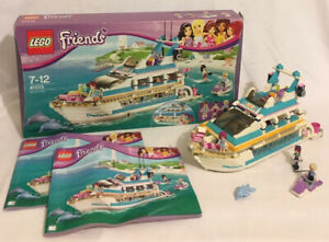 Lego Friends 41015 Dolphin Cruiser 2013 Box Instructions *95% Complete*