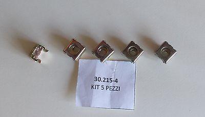 Dado in gabbia con inserto Diametro foro 4 mm Kit 5 pezzi
