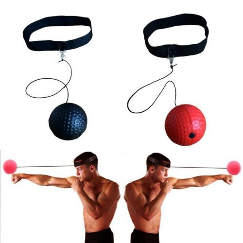 Fight Ball Reflex Boxing Trainer Training Boxer Speed Punch Head Cap String T7J8