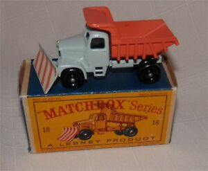 Années 1960 Lesney Matchbox 16 Scammell Snow Plough.plow.bpw.mint In Box