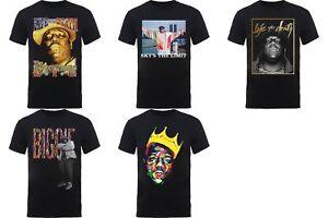 Notorious-BIG-Biggie-Smalls-Mens-Black-T-Shirts-Tupac-Rap-Hip-Hop-90s-Official