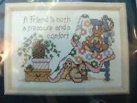A Friend Is A Treasure Counted Cross Stitch Kit 7x5 Jiffy Bear Baby Blanket