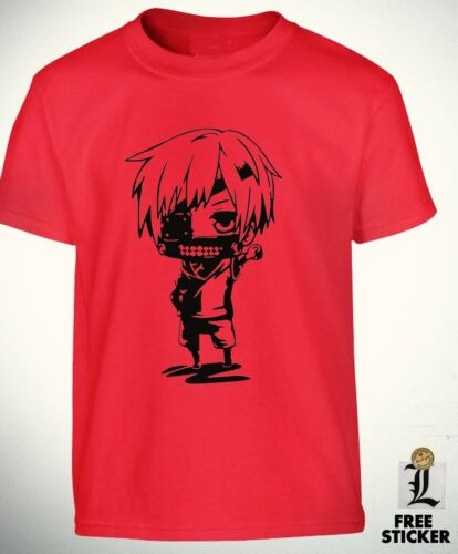 Tokyo Ghoul T shirt Chibi Kaneki Funny Anime tee Fashion Wear Boys Kids Top