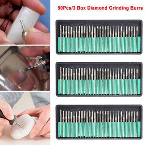 Sale-90Pcs-Diamond-Burr-Bits-Drill-Kit-For-Engraving-Carving-Dremel-Rotary-Tool