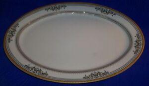 Vintage-Savoy-Home-Gold-Trim-Meat-Platter-14-034-X-9-5-034
