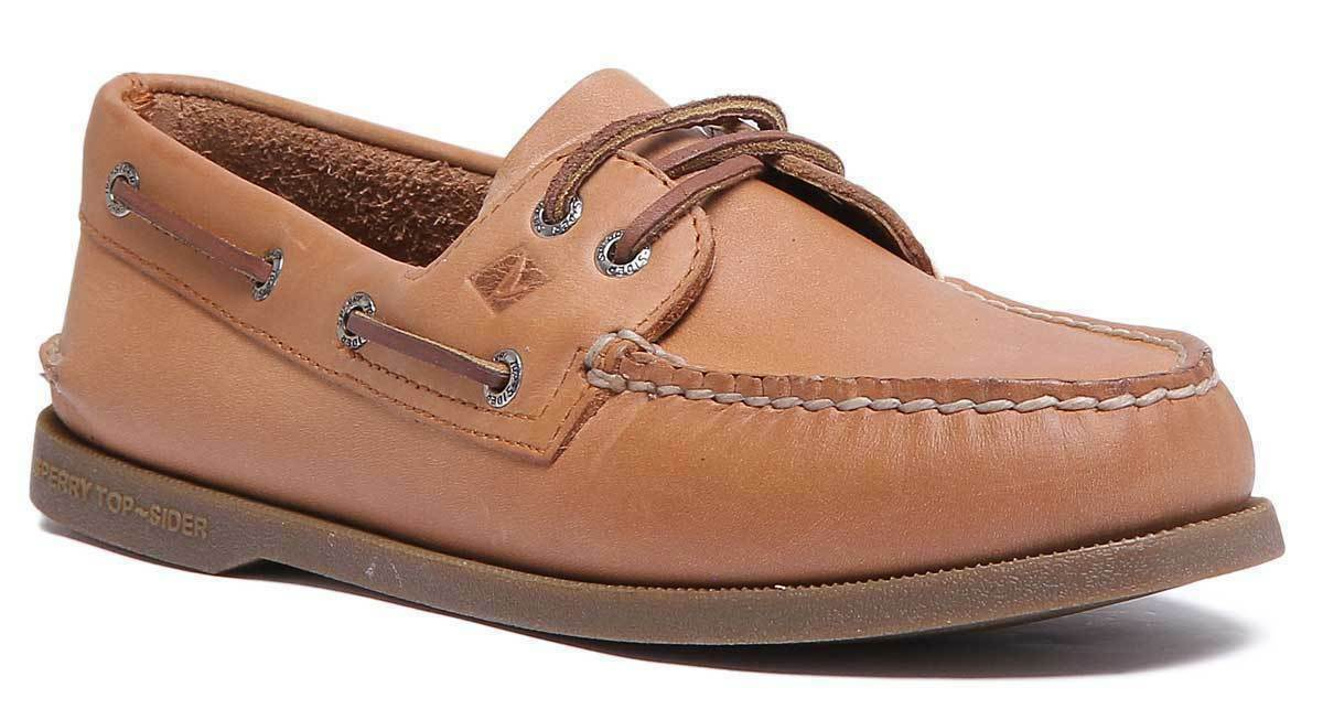 Sperry Authentic 197640 Men Leather Sahara Brown Boat shoes Size 9.5