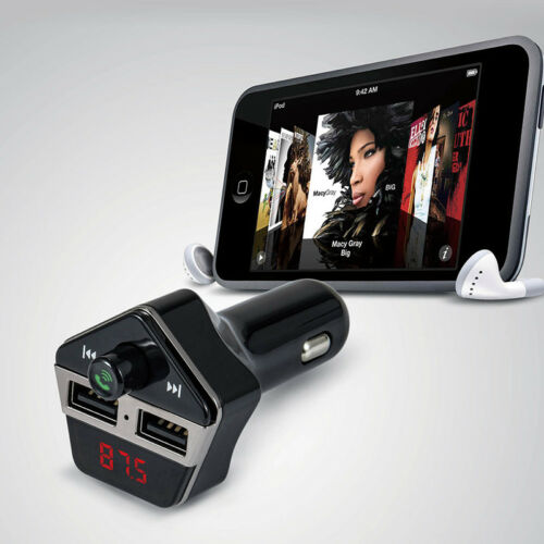 Bluetooth Wireless FM Transmitter USB Car Kit Charger for iPhone iPod Samsung S8