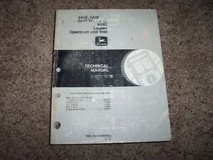 john deere 544e 624e 644e tc ll loader operation test technical rh ebay com John Deere L111 Service Manual John Deere Parts Catalog