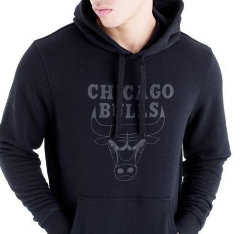 Herren All Uomo Chicago New Po Felpa Felpa con Era con Team Bulls cappuccio cappuccio Black Logo Nba q1qB5aFZ