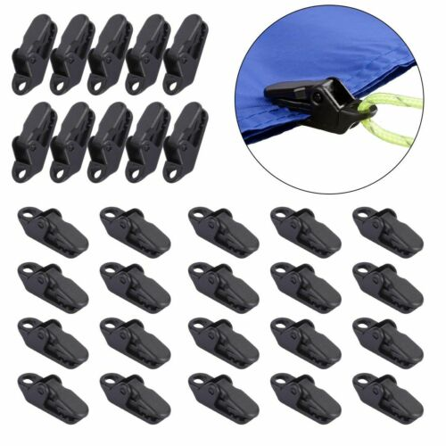 10//20X Camping Awning Canopy Clamp Tarp Clip For Car Boat Cover Emergency Tent