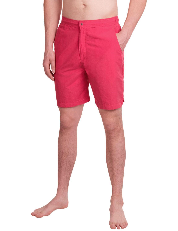 PETER MILLAR Zip Fly Swim Shorts Trunks in Pink Sz.L 36-37 NWT