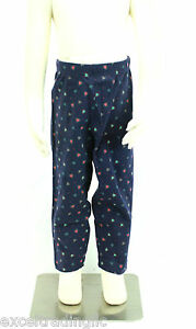 JACADI-Girl-039-s-Adosser-Navy-Blue-Floral-Print-Leggings-Sz-8-Years-NWT-32