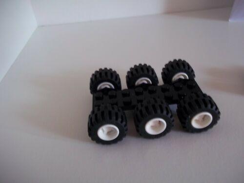 6x PNEUMATICO 87697-PIASTRA 3x 6157-1x 3034 6x LEGO RUOTA Bianco 6014b