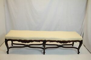 French-rosewood-Louis-XV-X-Large-Window-Hall-Bedroom-Bench-Ready-19c