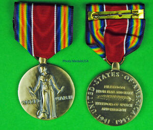 WWII-Victory-Medal-Full-size-made-in-USA-World-War-Two-WW2-WWIIVM