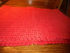 Set-4-Vintage-Heavy-Red-Woven-PLACEMATS-17-034-x-12-034-High-Quality-Home-Decor-97