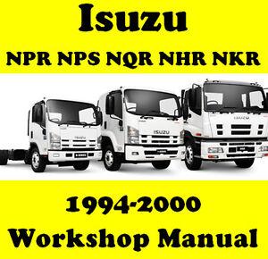 isuzu npr nqr nps nkr nhr n series truck workshop manual on or rh ebay com au Isuzu NPR Trucks Isuzu NPR Trucks