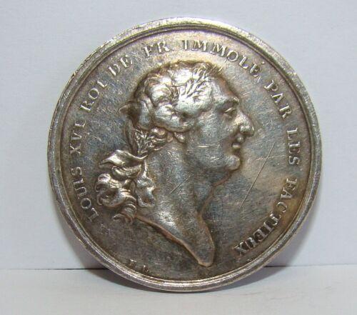 Orig. Silber Medaille Louis XVI Frankreich auf seinen Tod 1793 Loos